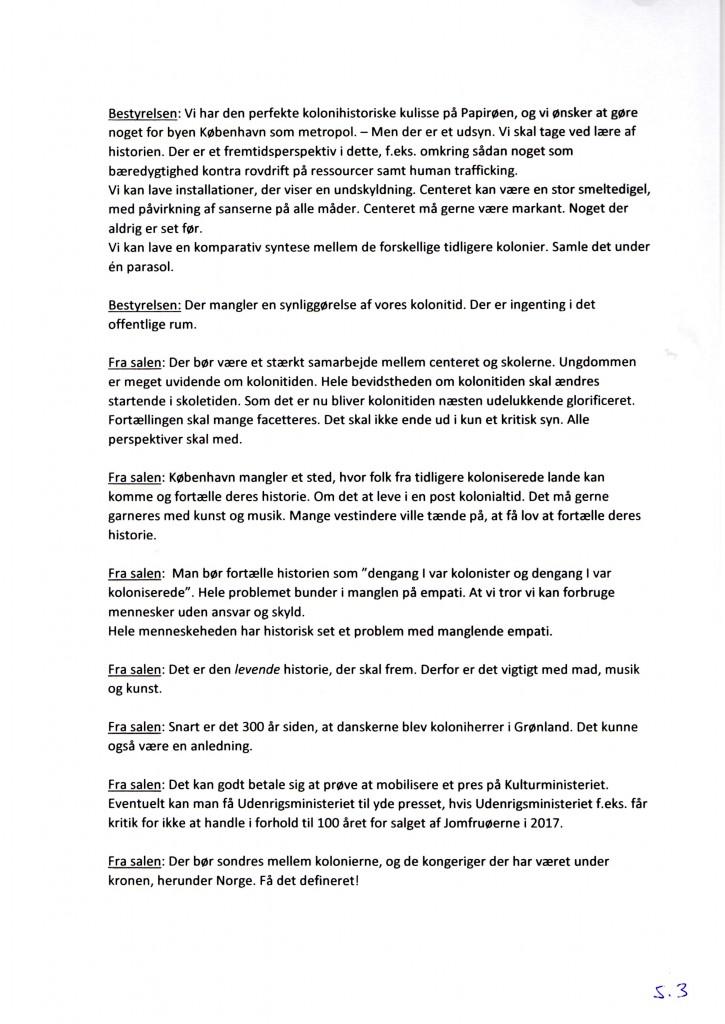 Kolonihistorisk Center Generalforsamlingsreferat 2015 side 3